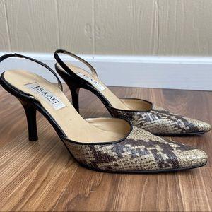Isaac Mizrahi Italy Leather 90s Reptile Heels